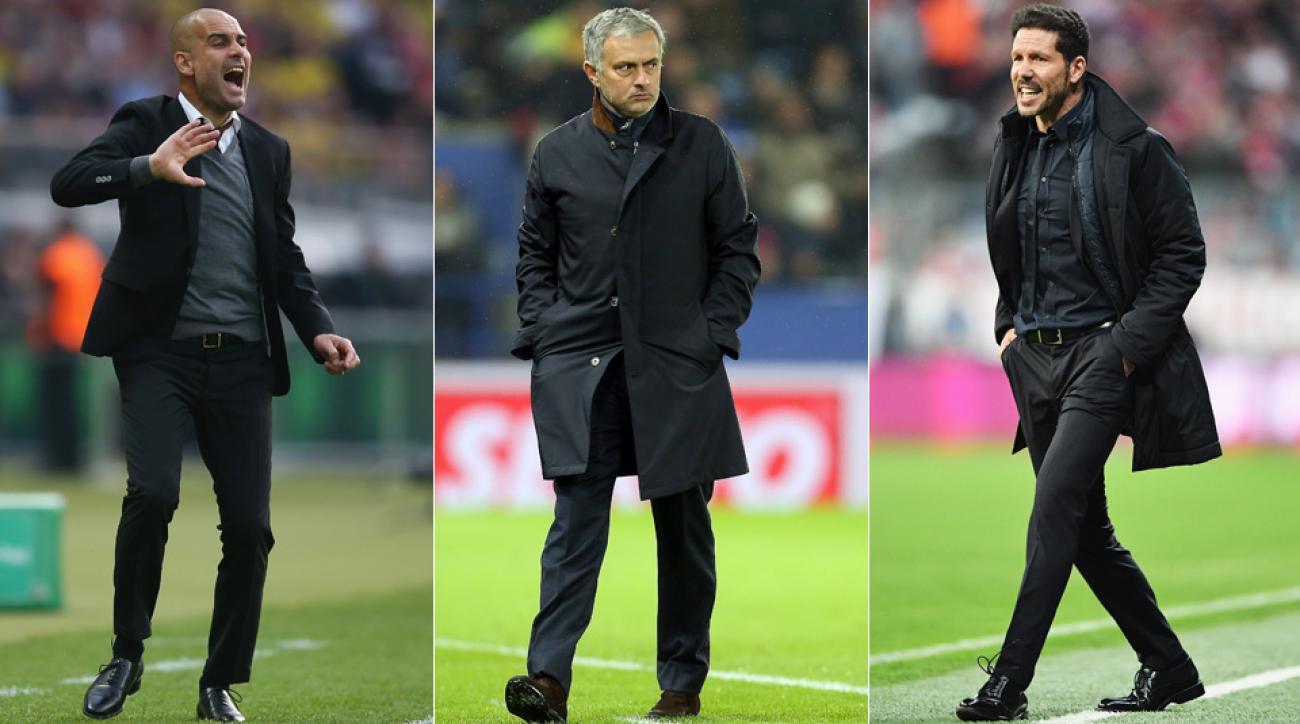 Pep Guardiola, Jose Mourinho, Diego Simeone