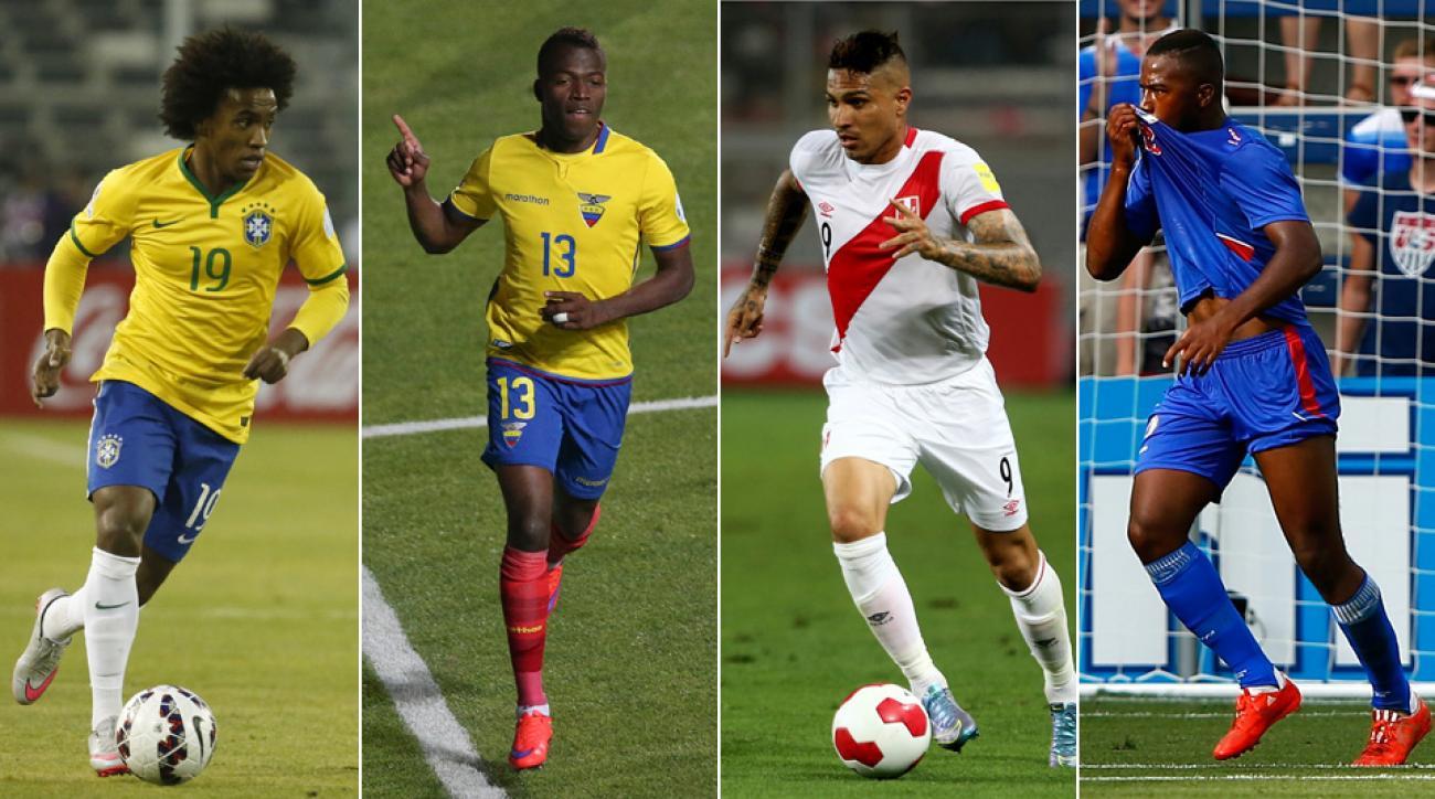 Copa America Group B: Brazil, Ecuador, Peru, Haiti