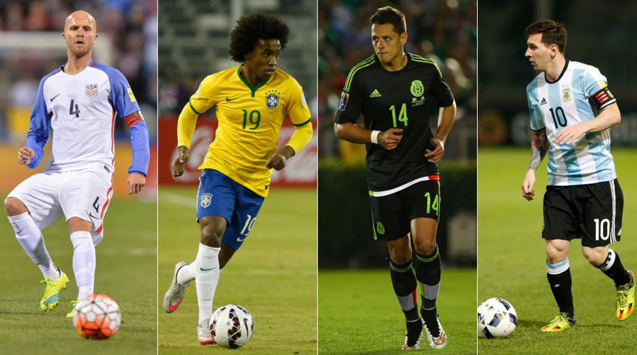 USA, Brazil, Mexico and Argentina are the top seeds at this summer's Copa America Centenario