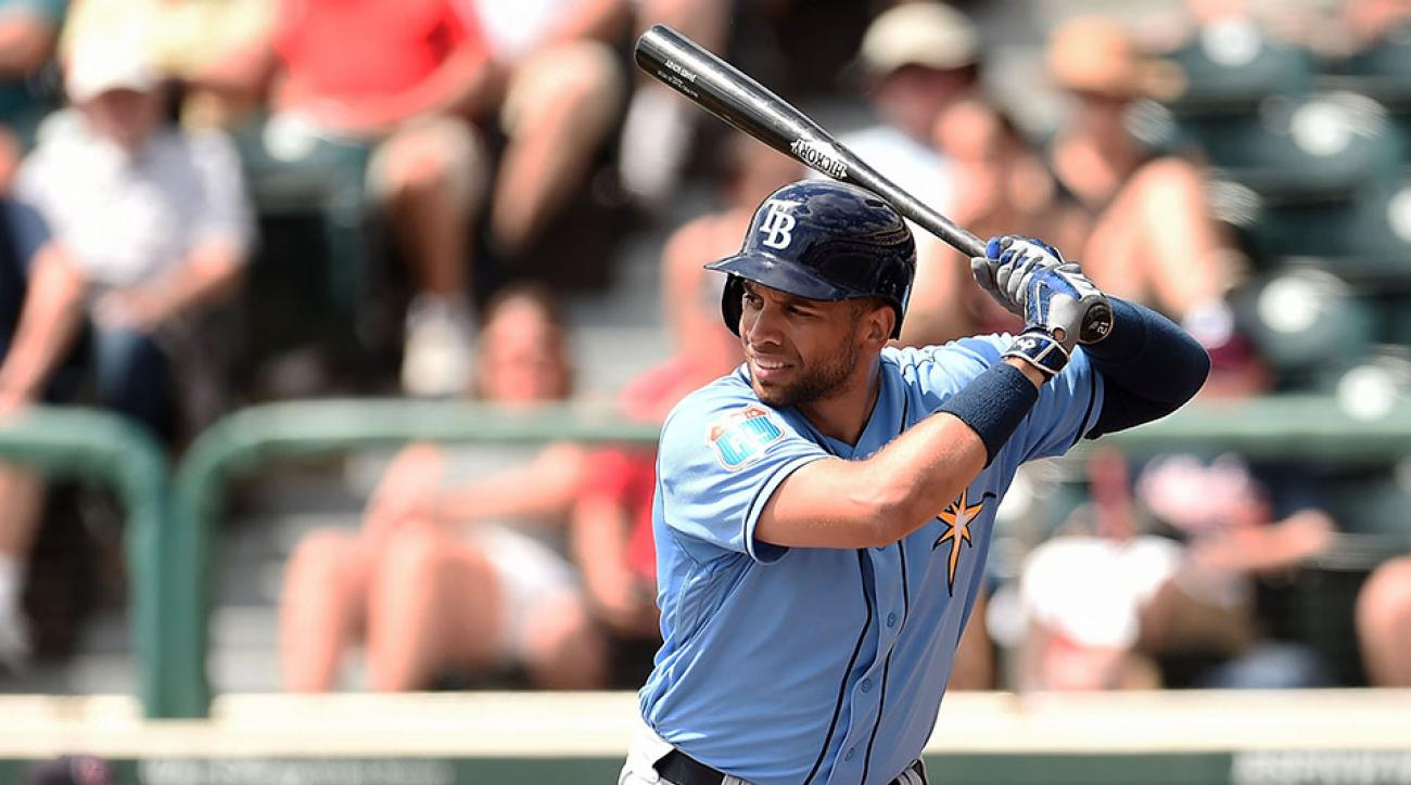 Loney played for the Tampa Bay Rays in 2015.