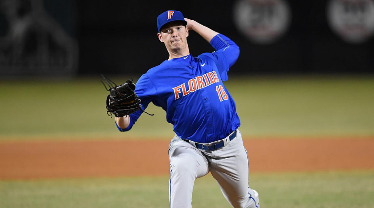 A.J. Puk will be trying to help the top-seeded Gators to win their first national title.