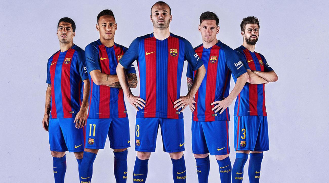 Barcelona's new uniform for 2016-17