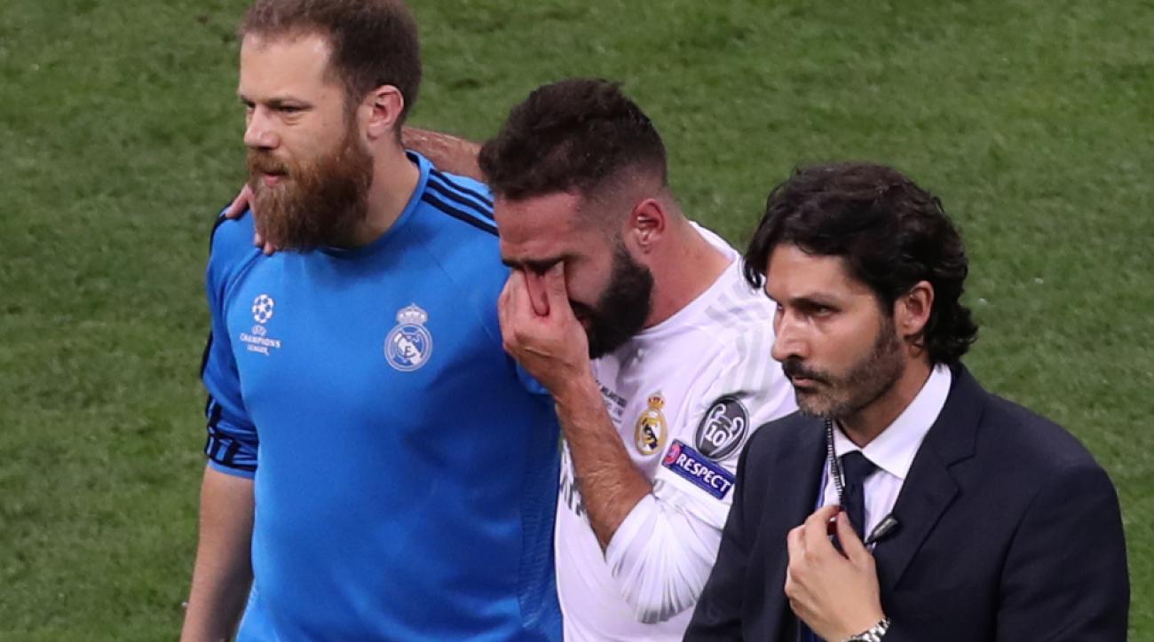 Dani Carvajal hamstring injury spain euro 2016