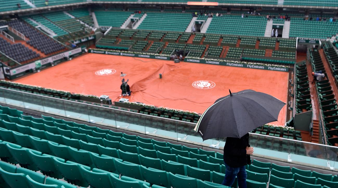 french open roland garros rain matches canceled