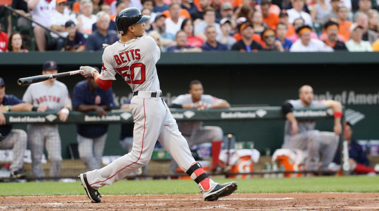 mookie betts home runs orioles red sox video