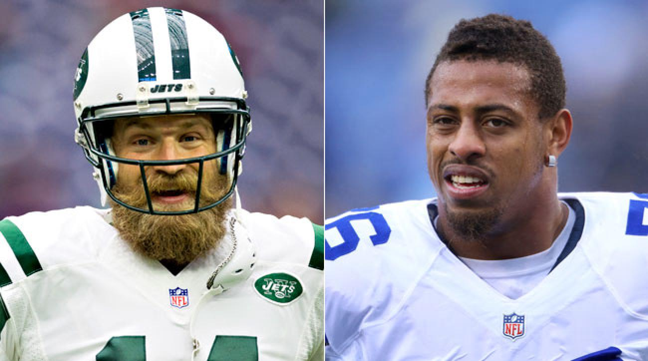 Ryan Fitzpatrick and Greg Hardy.