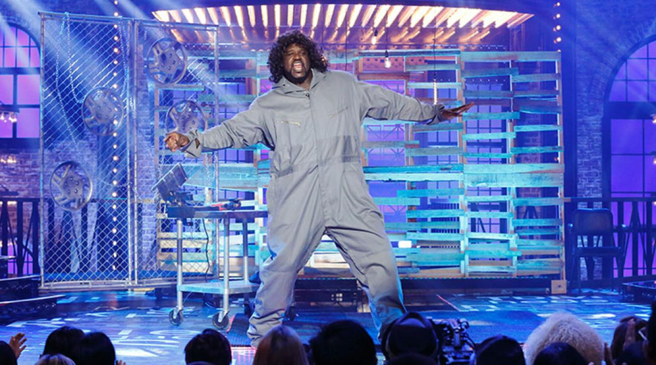 shaquille oneal lip sync battle footloose video