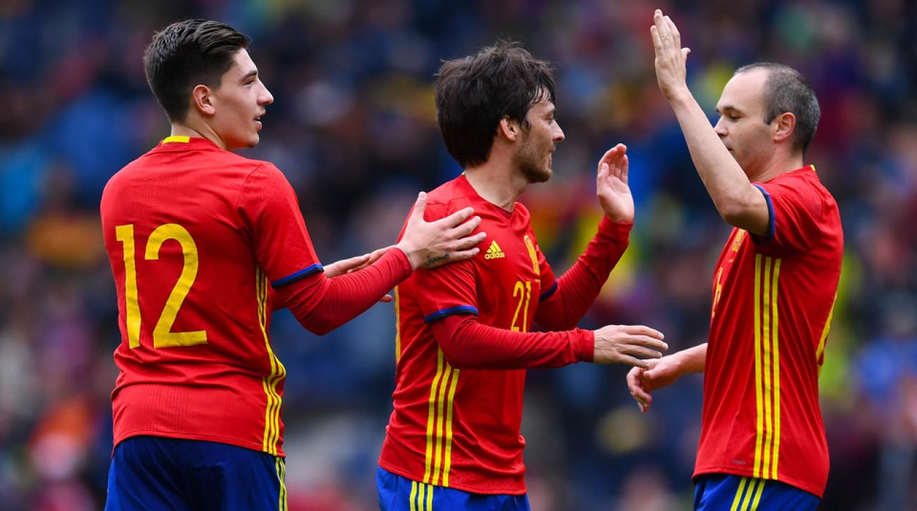 David Silva scored for Spain in a Euro 2016 tune-up against South Korea