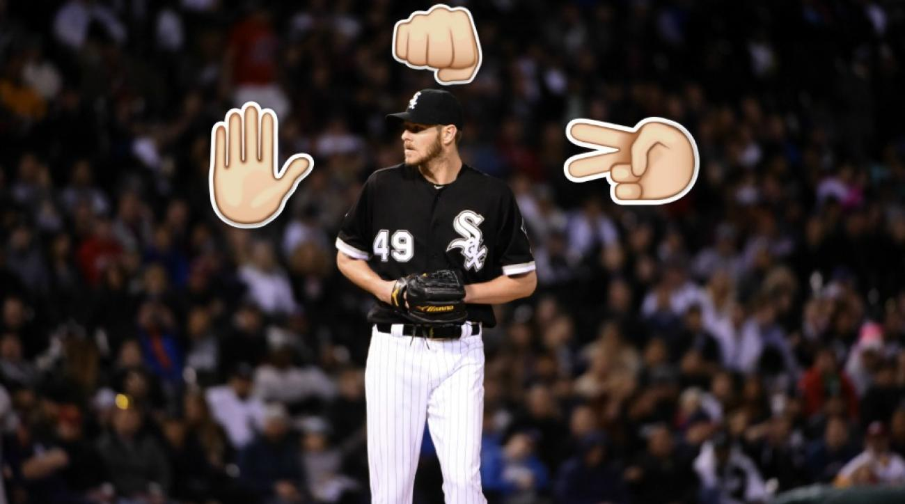 Chris Sale lost in Rock paper scissors and gave up an autograph
