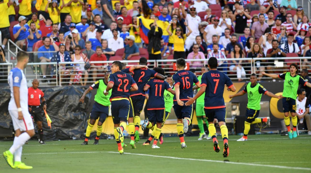 Cristian Zapata scores for Colombia vs. USA