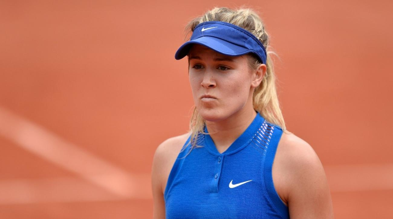Genie Bouchard had to answer some tough questions about French Open loss at the airport