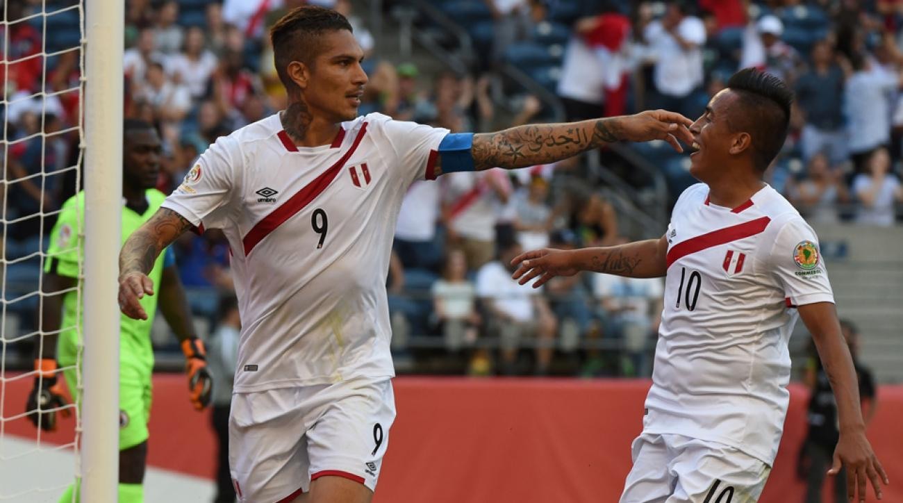 Paolo Guerrero scores for Peru vs. Haiti in Copa America