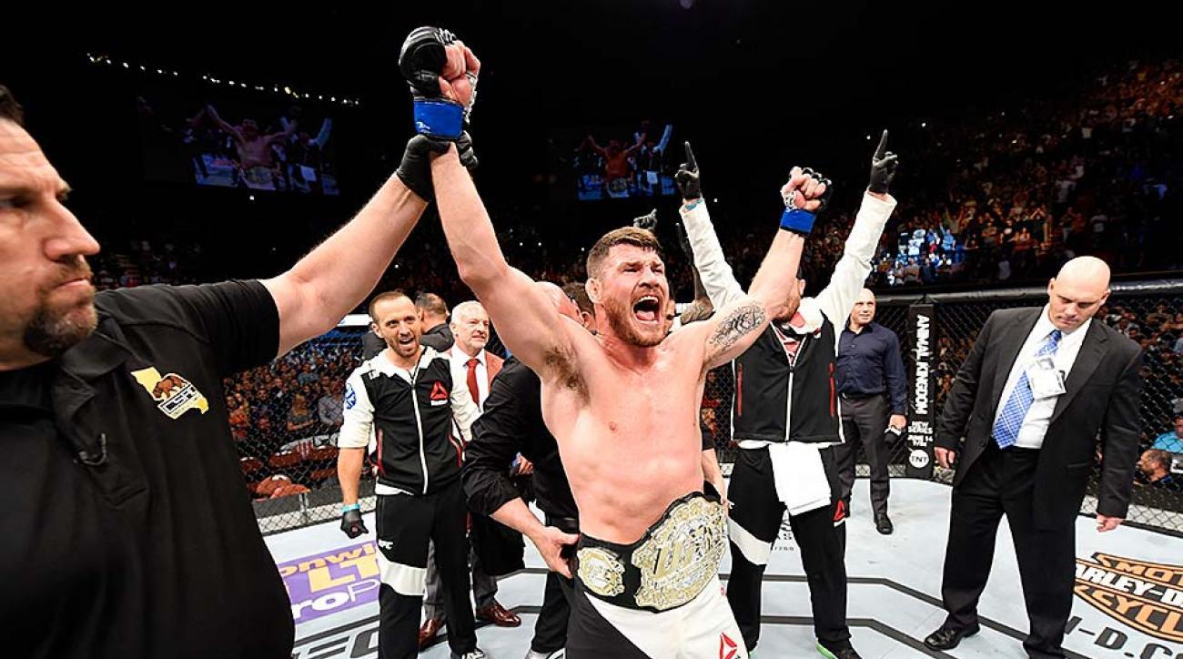 Michael Bisping wins UFC 199