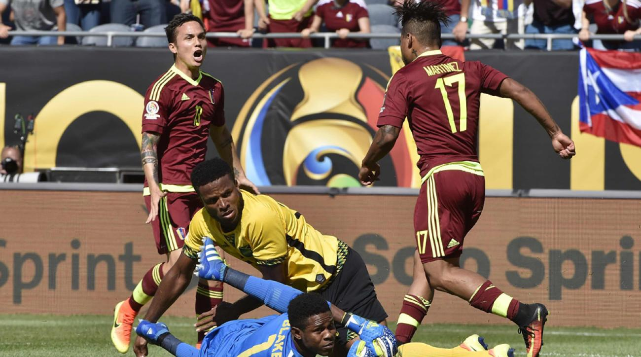 Venezuela's Josef Martinez scores vs. Jamaica at Copa America