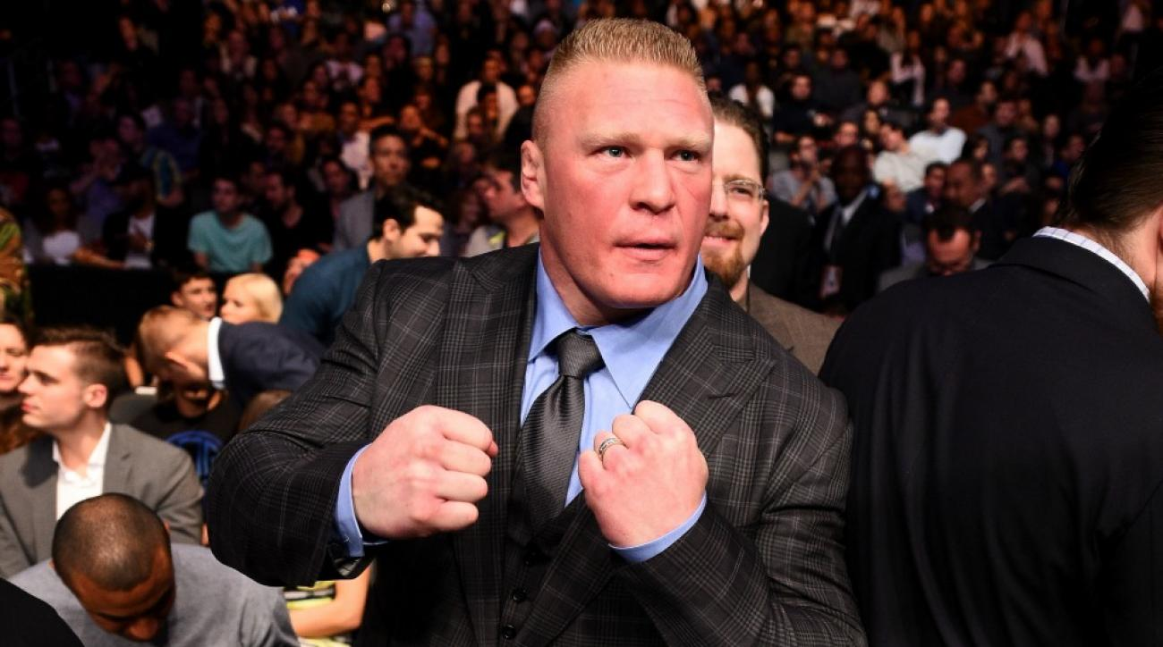 Brock Lesnar played with a puppy today
