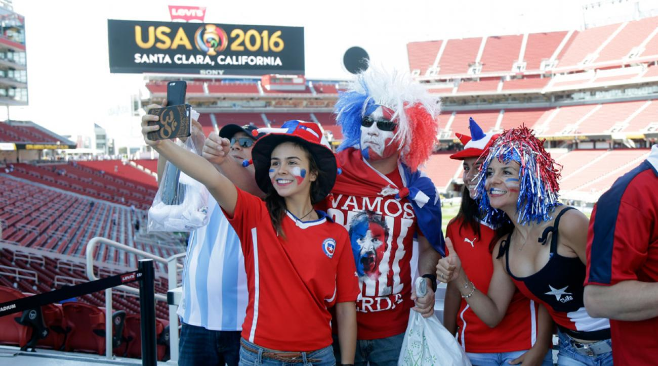 Chile fans at Copa America