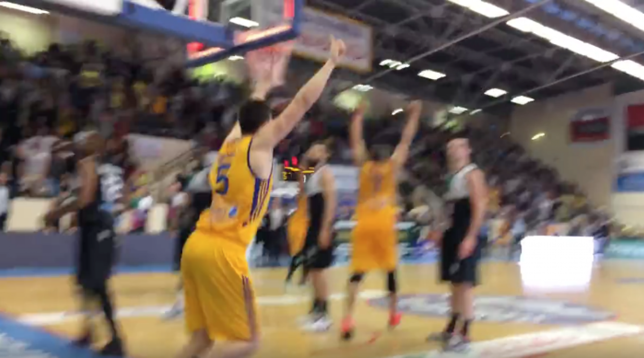 france basketball buzzer beater evreux bastien pinault video