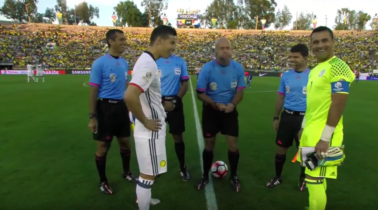 copa america colombia paraguay coin flip edge video