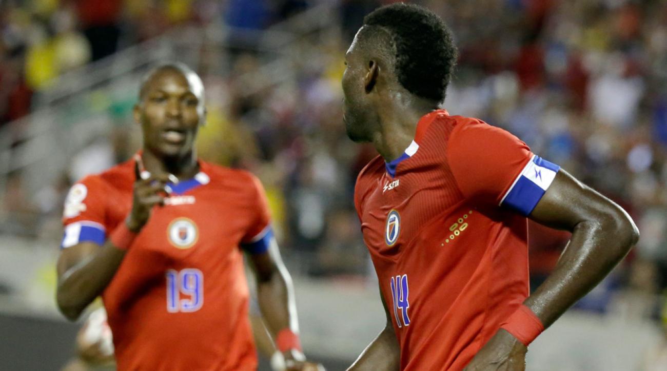 James Marcelin scores for Haiti vs. Brazil in Copa America