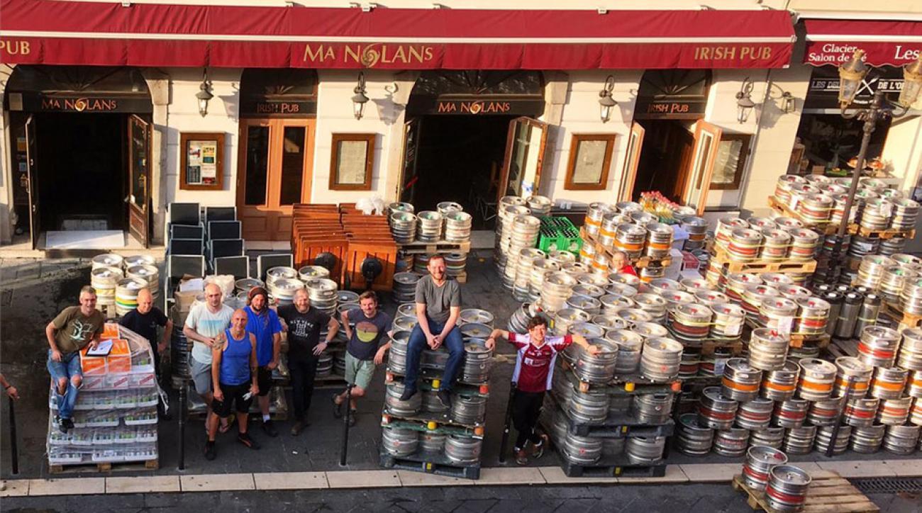 euro 2016 ireland pub france kegs beer photo