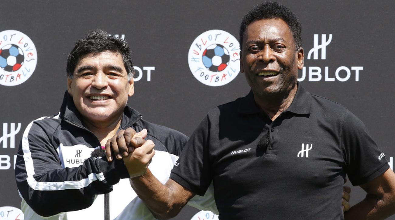 Maradona, Pele reunited ahead of Euro 2016