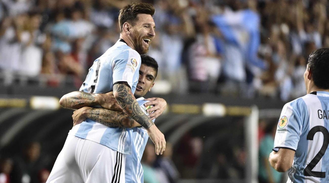 Lionel Messi scored a hat trick off the bench for Argentina in Copa America