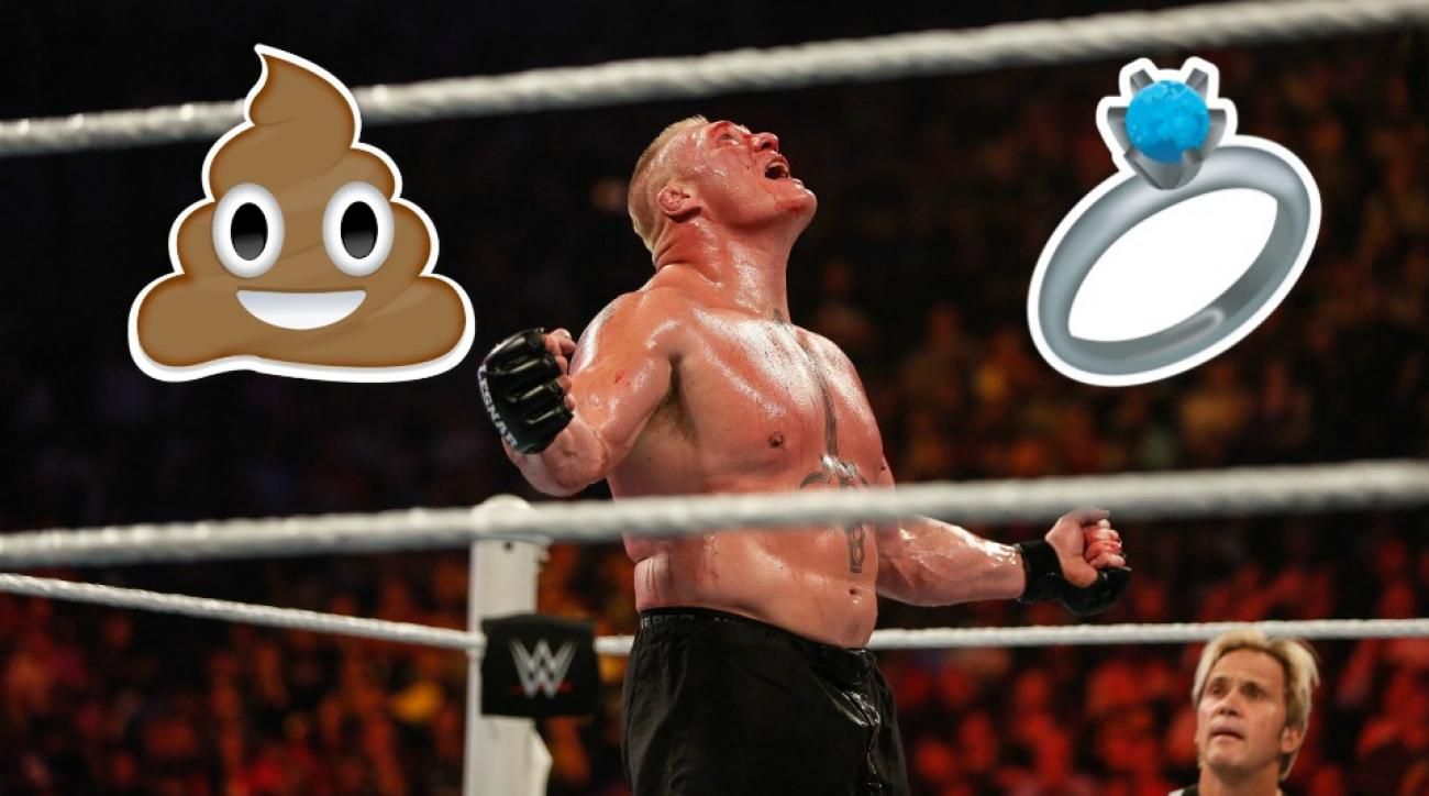 Brock Lesnar tricked his wife into sifting through poop for a ring