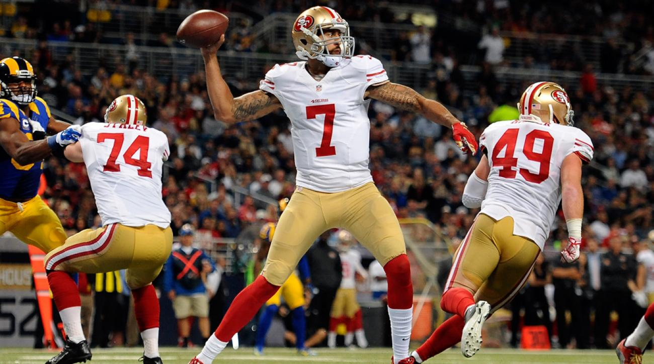 colin kaepernick san francisco 49ers excited chip kelly