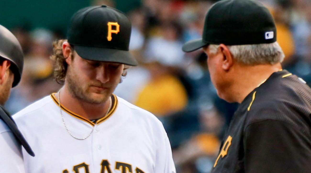 gerrit cole injured pittsburgh pirates