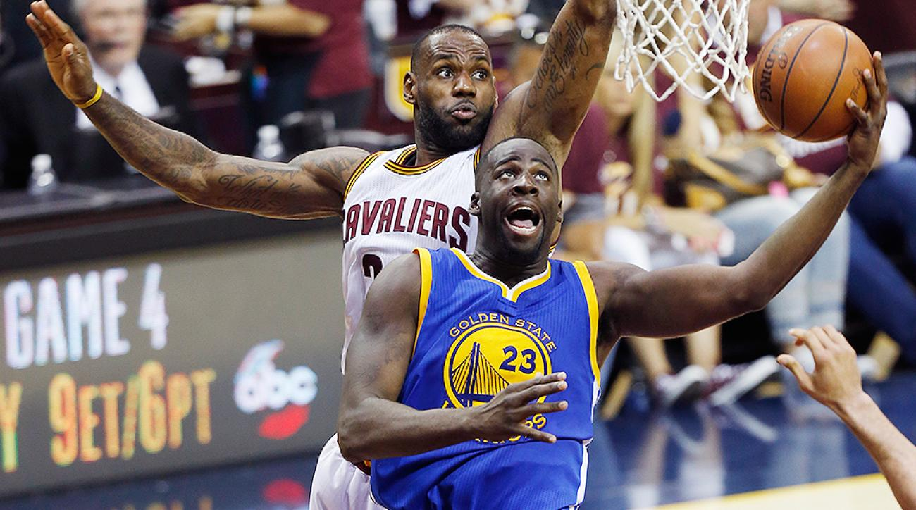 d4abaeb12e78 Draymond Green hits LeBron James in groin  Game 4 video
