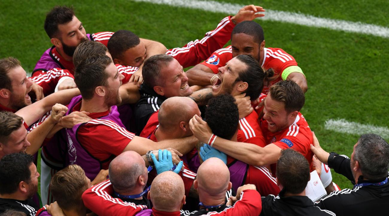 Gareth Bale scores for Wales vs. Slovakia at Euro 2016