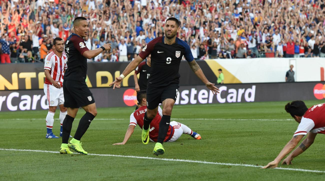 Clint Dempsey scores for the USA vs. Paraguay