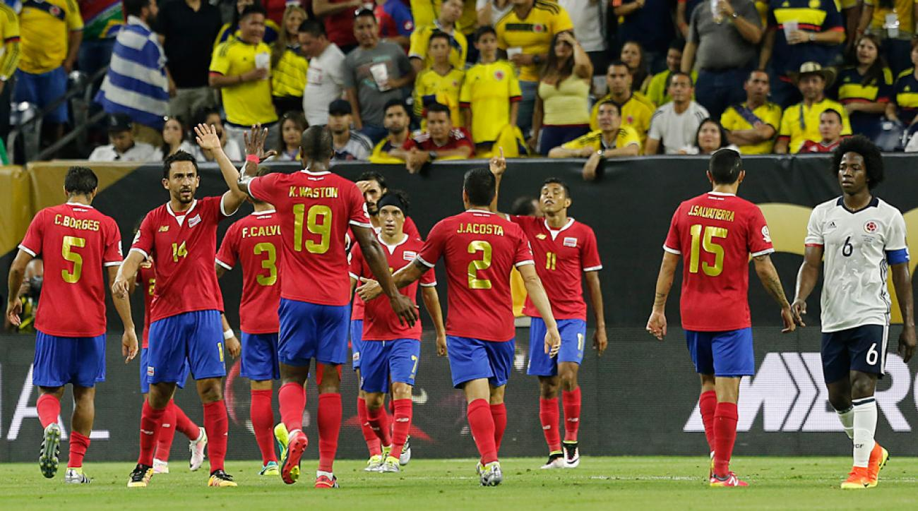 Costa Rica scores on Colombia in Copa America