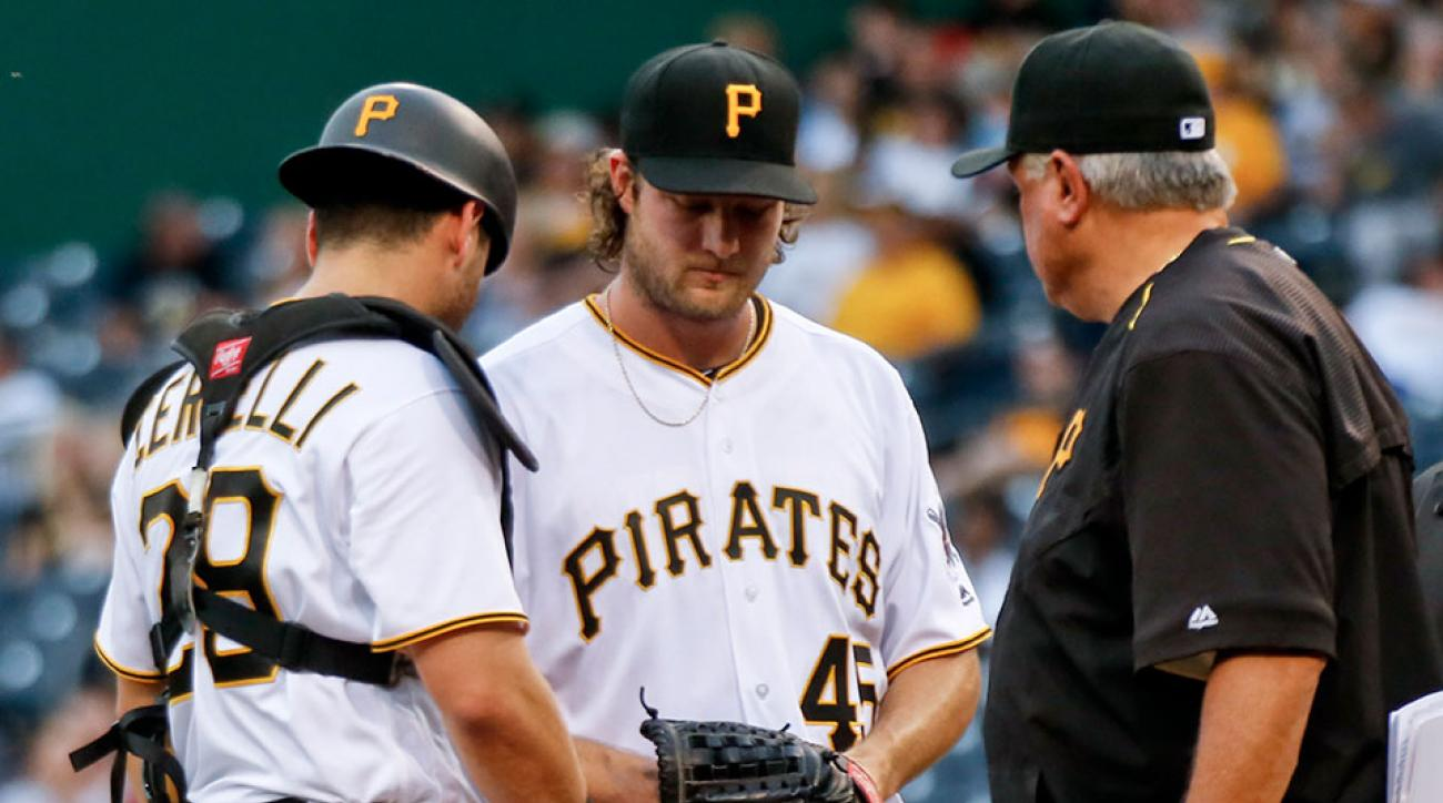pittsburgh pirates gerrit cole francisco cervelli injury status update