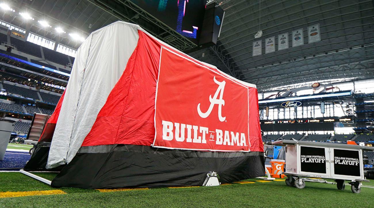 Alabama football medical tent