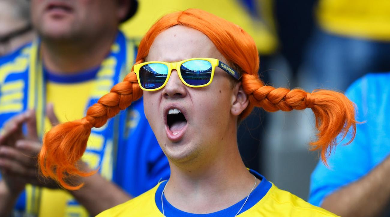 ireland sweden fans sing dancing queen video