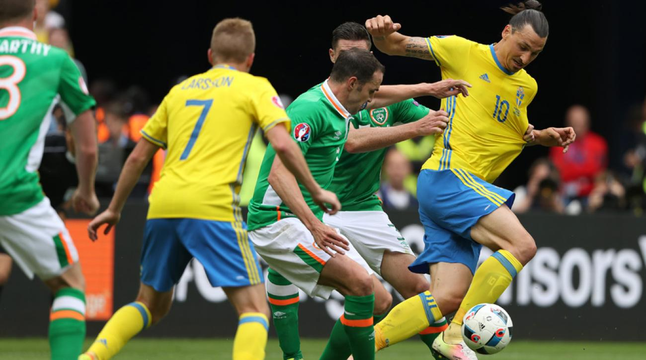 Zlatan Ibrahimovic was held mostly in check by Ireland at Euro 2016
