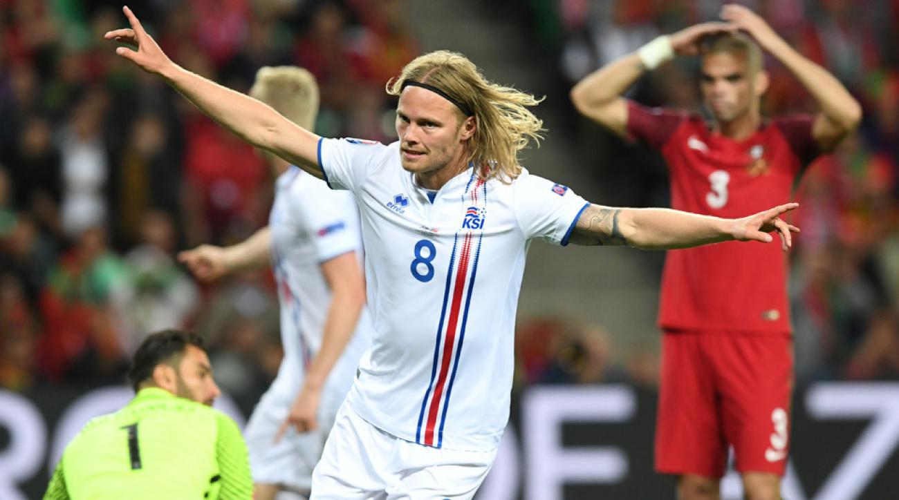 Bjranason's equalizer for Iceland vs Portugal at Euro 2016