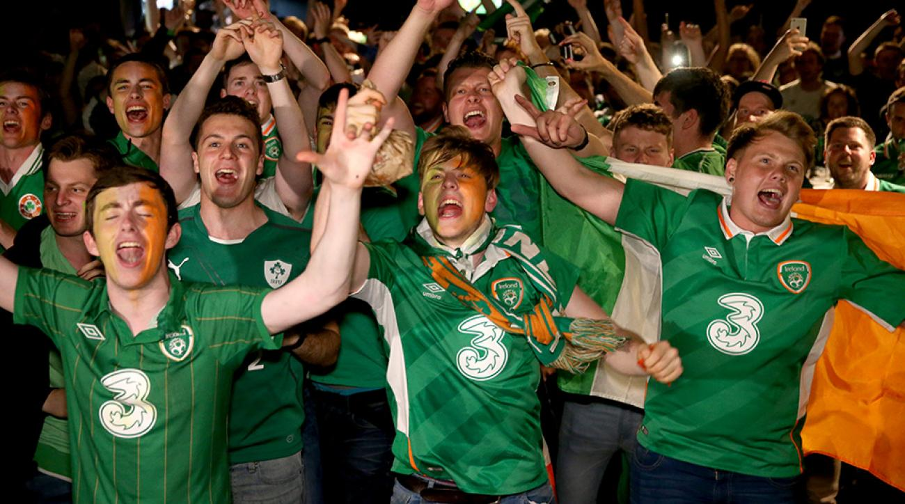 ireland soccer fans euro 2016 nun our father chant video