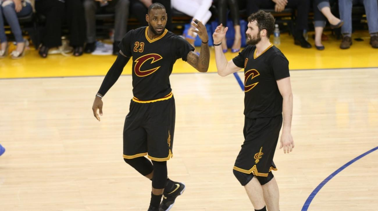 LeBron James did not want to give Kevin Love a high five