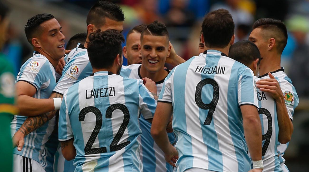 Argentina routs Bolivia at Copa America