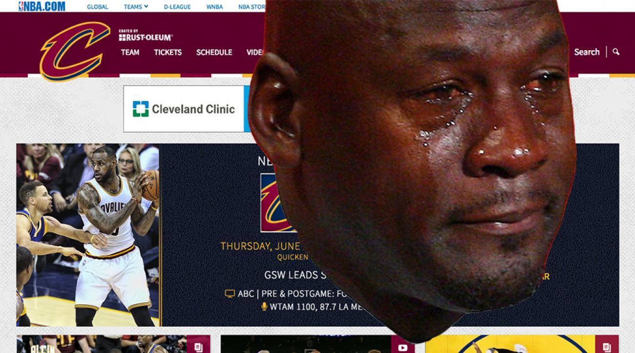 crying jordan cleveland cavaliers website redirect