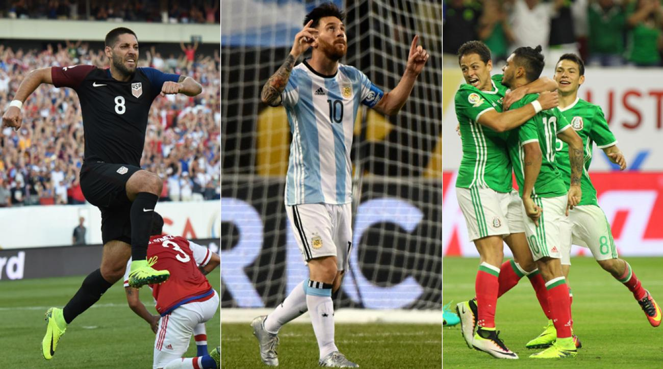 Clint Dempsey, Lionel Messi and Chicharito have all led their teams to the Copa America quarterfinals
