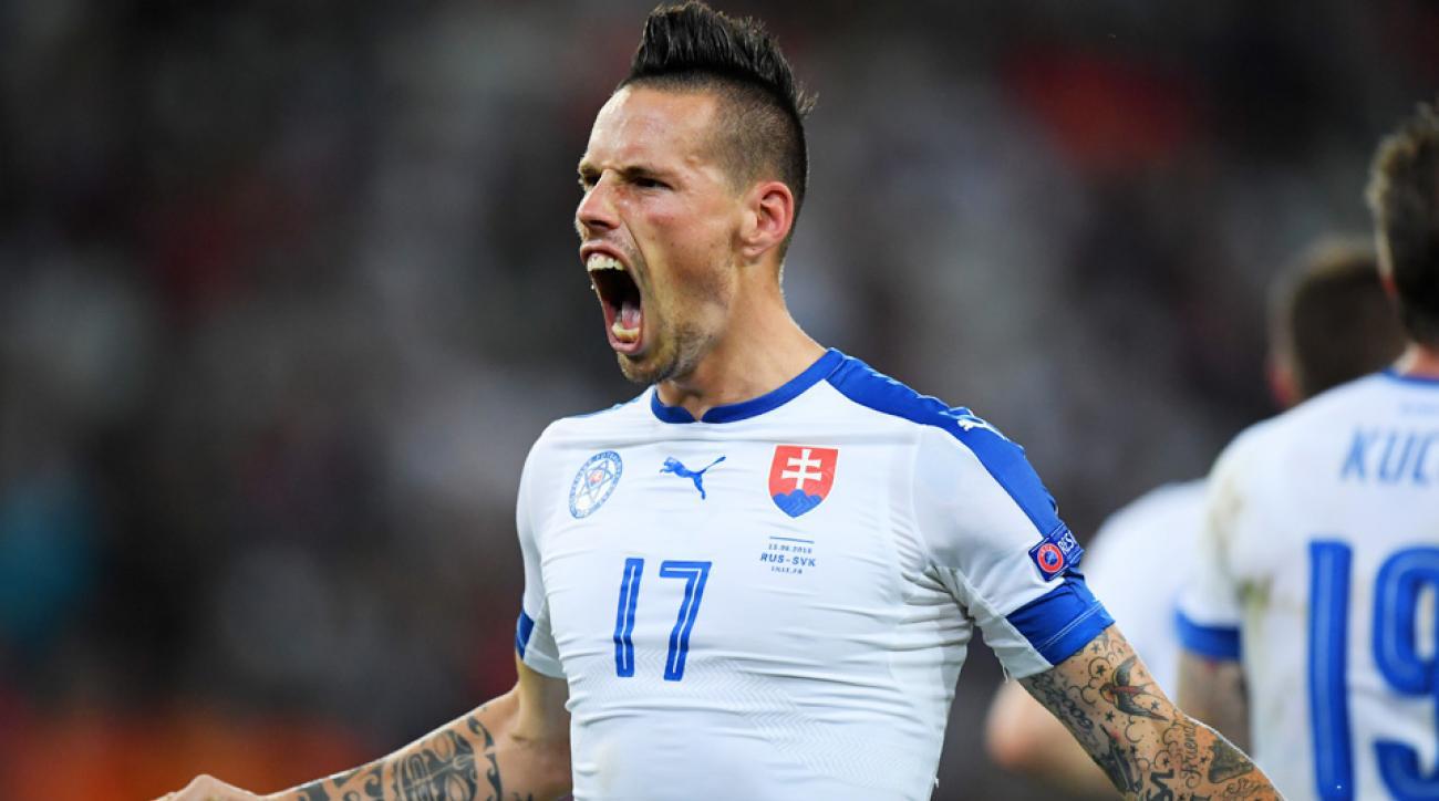 Marek Hamsik stars for Slovakia vs Russia in Euro 2016