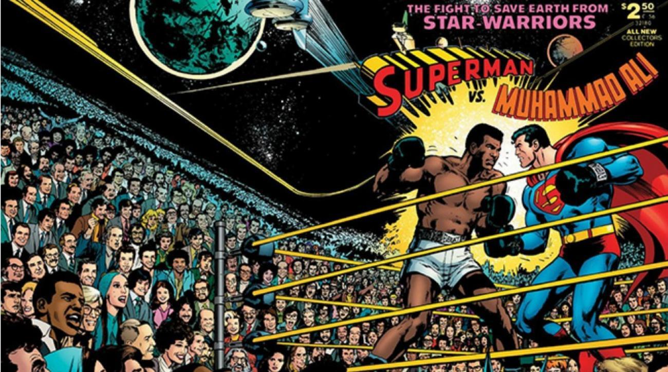 Muhammad Ali Vs. Superman comic book cover