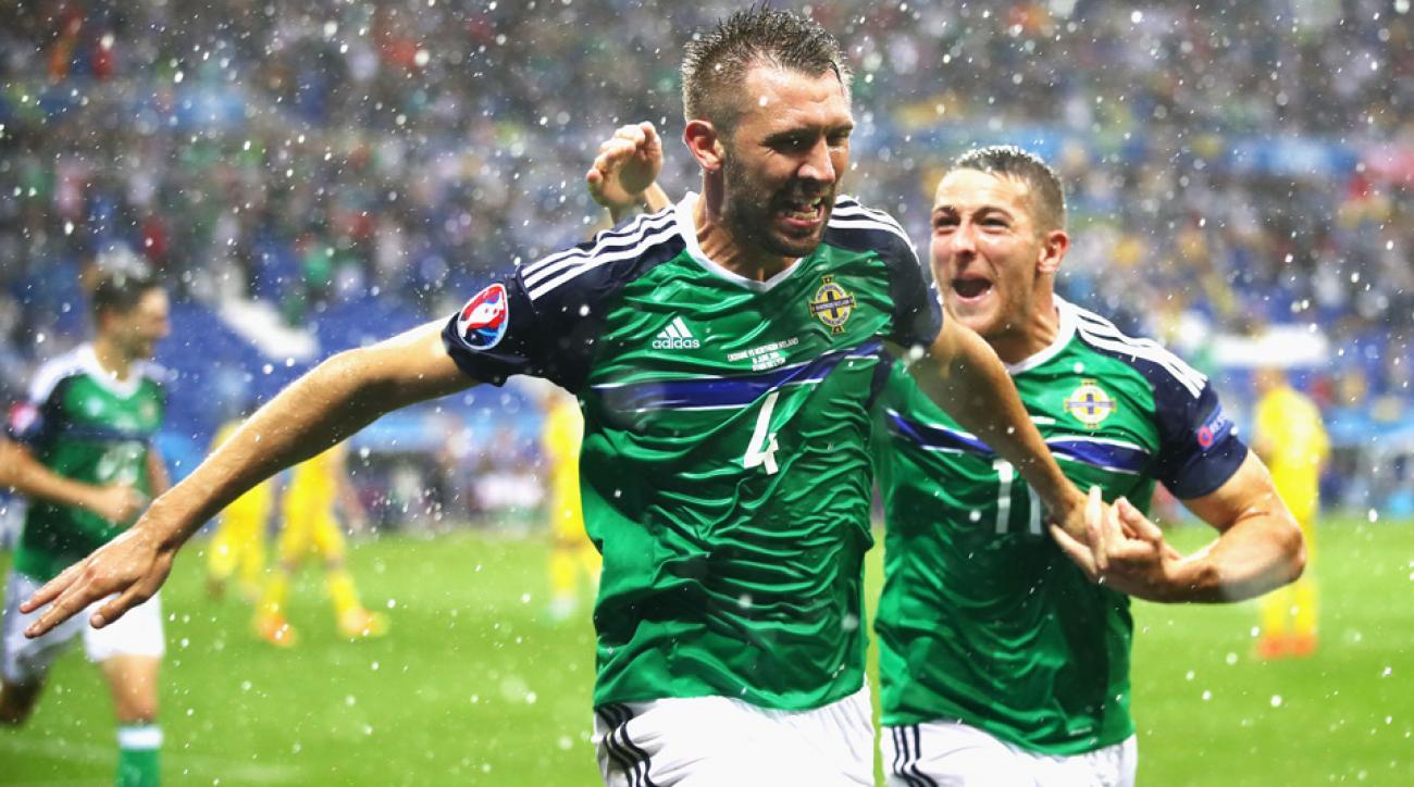 Northern Ireland beats Ukraine at Euro 2016