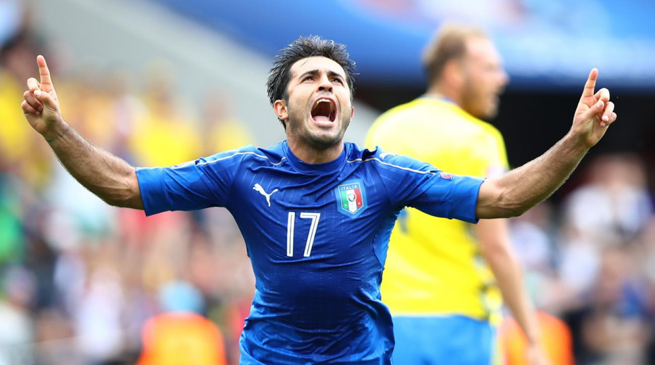 Eder scores Italy's winner vs. Sweden at Euro 2016