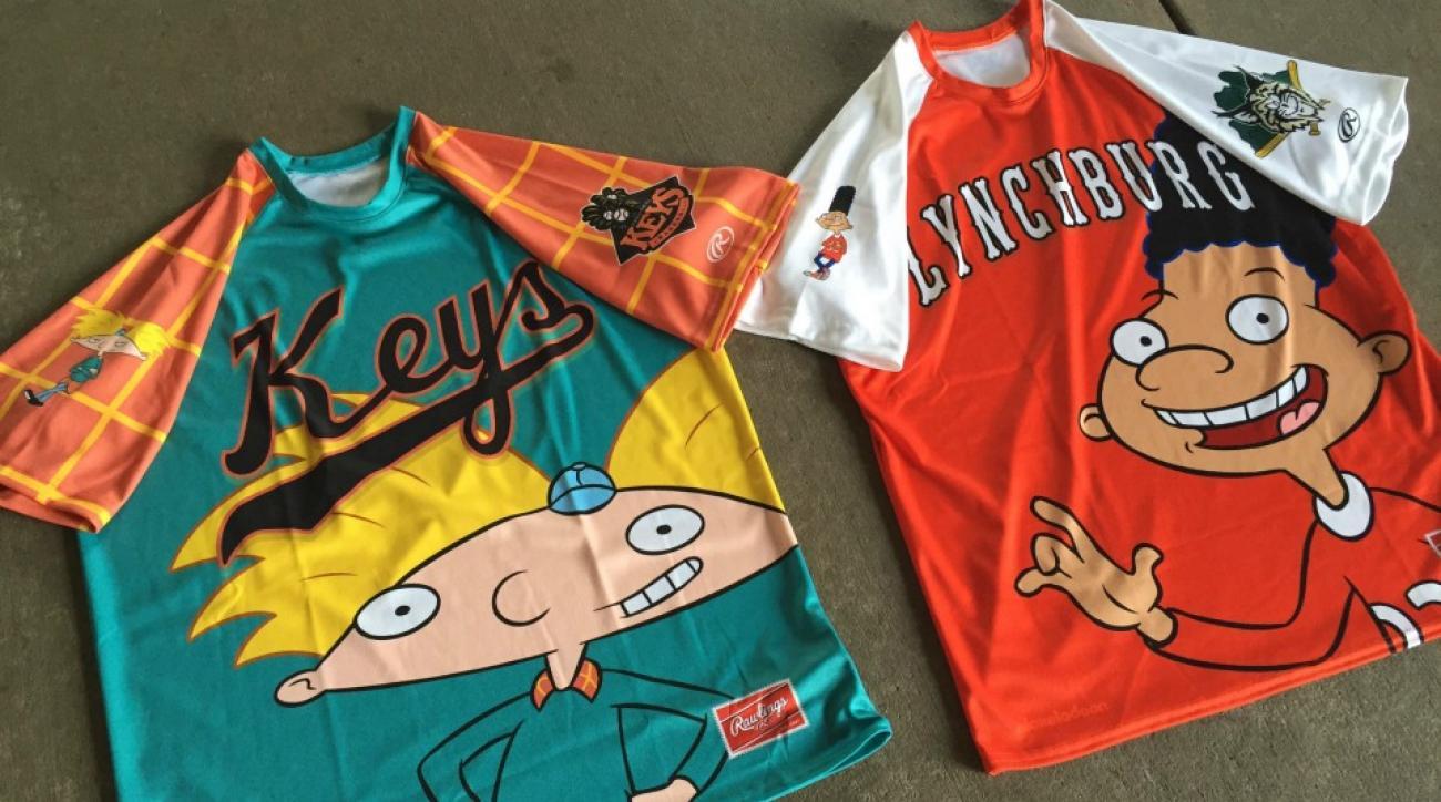 Frederick Keys are wearing Hey Arnold jerseys
