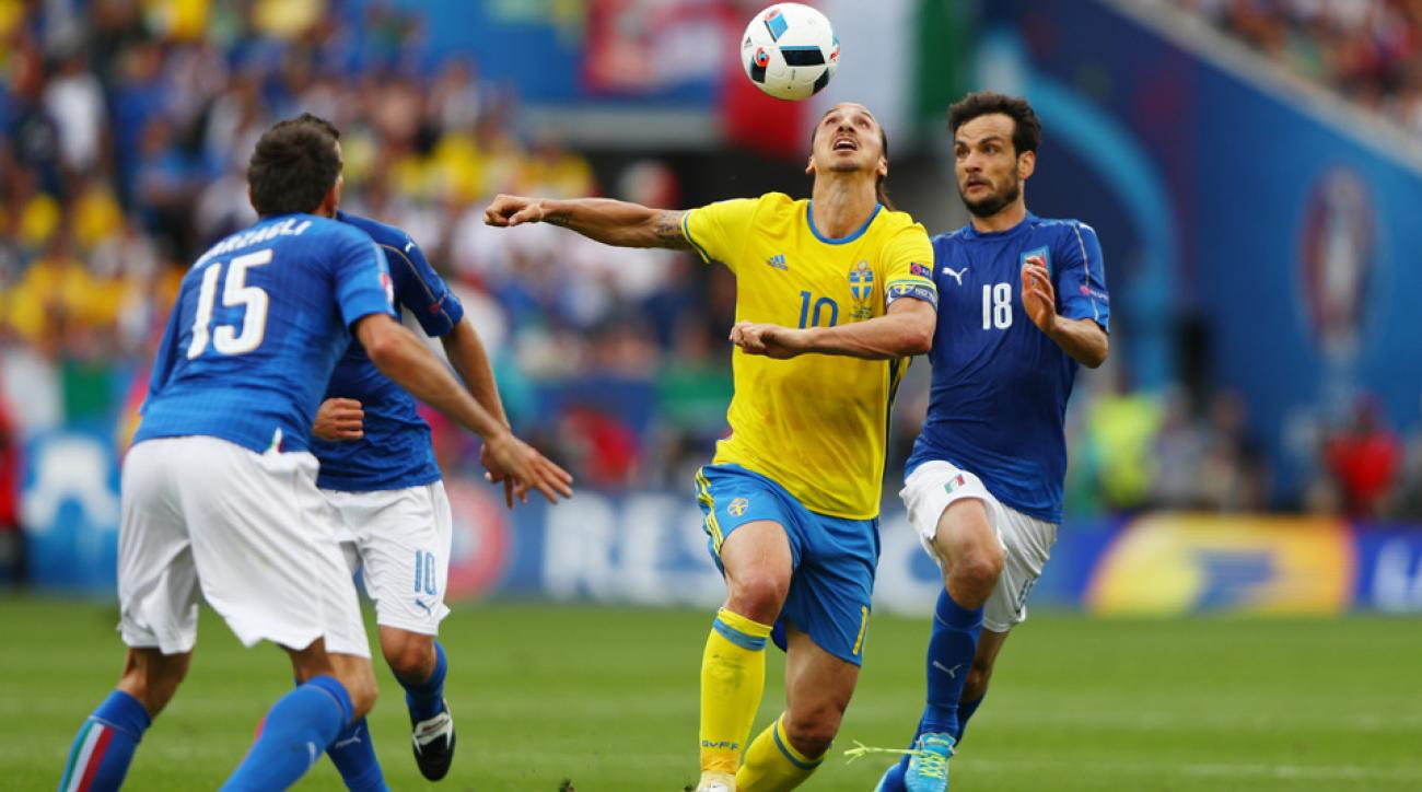Italy smothered Zlatan Ibrahimovic and Sweden at Euro 2016