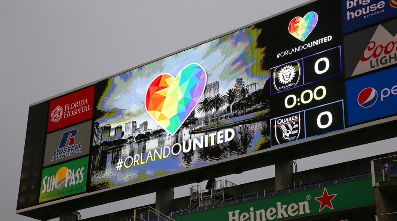 Orlando City SC honors the victims of last week's tragic shootings at Pulse nightclub